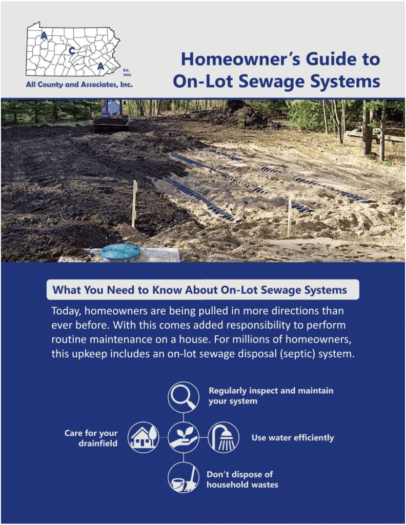 Homeowner's Guide to On-Lot Sewage Systems cover sheet