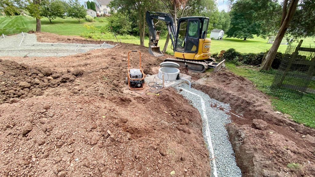 Construction of a full septic system