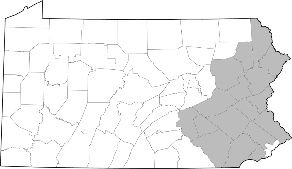 ACA Contact Us Service Area Map